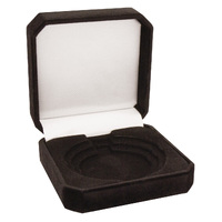Crown Medal Box - Black 50, 60, 70mm