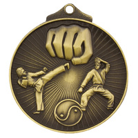 Martial Arts Medal Gold