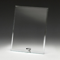 Clear Glass Plaque 230mm